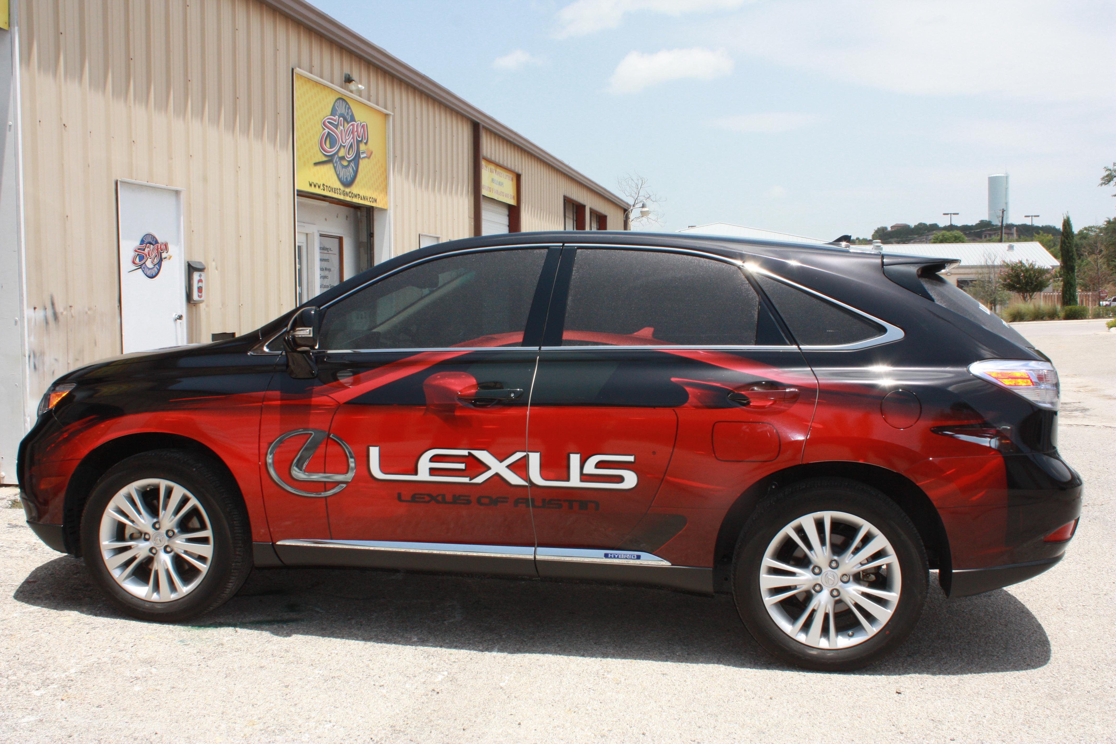 Lexus of Austin Wrap Installed