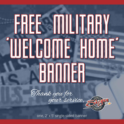 FREE MILITARY Banner