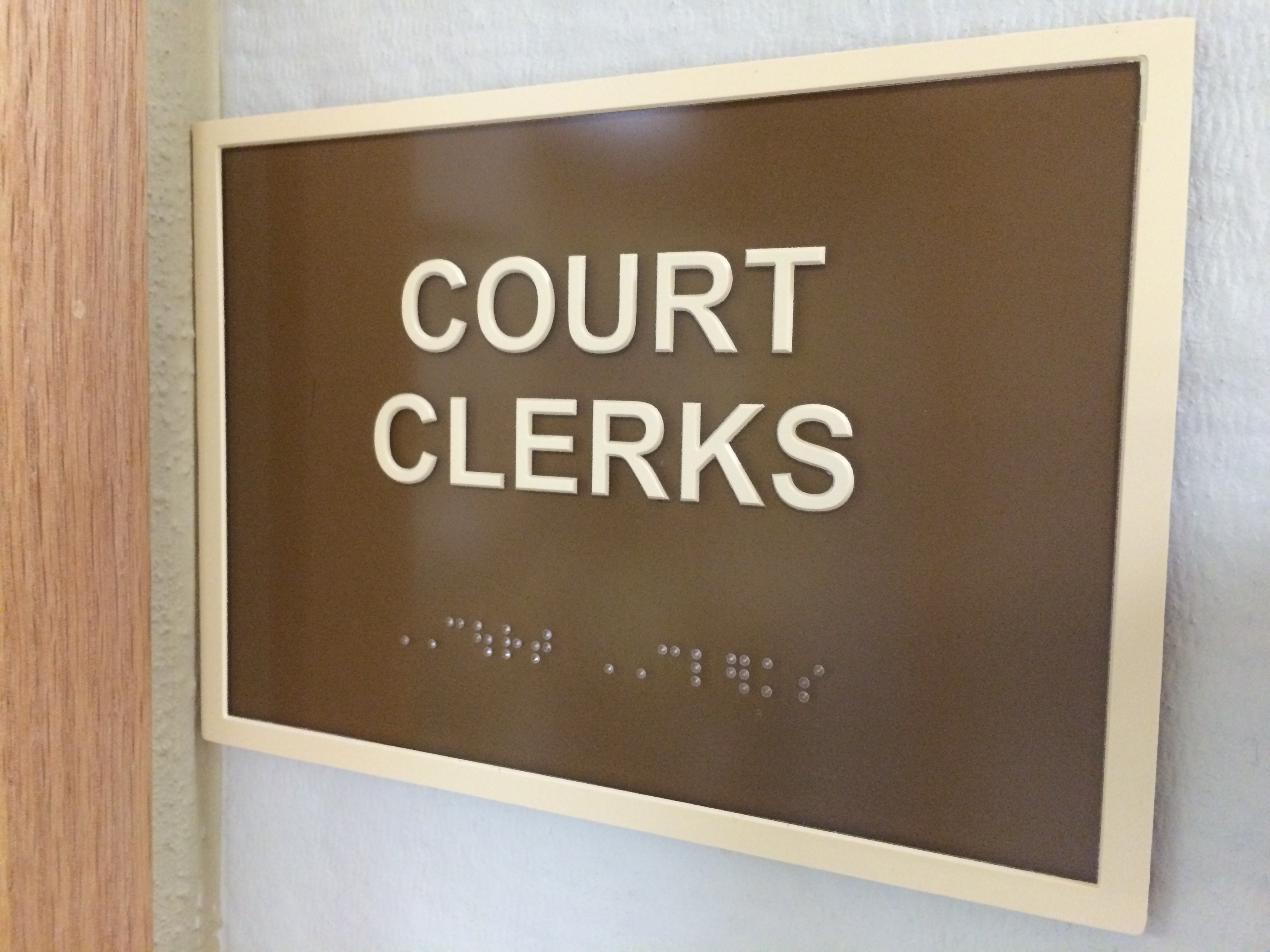 Office Engraved Sign with Braille