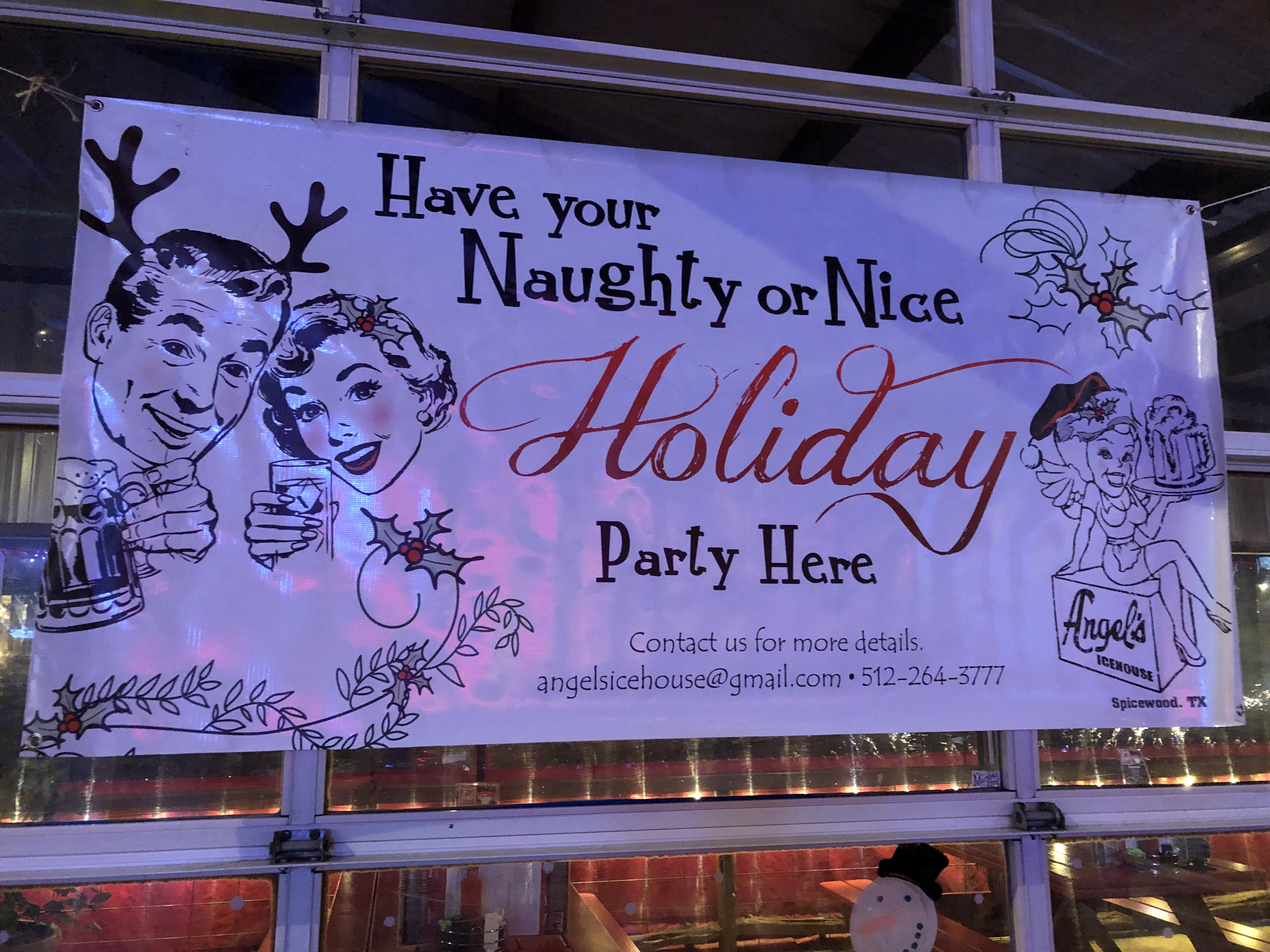 holiday banners austin spicewood