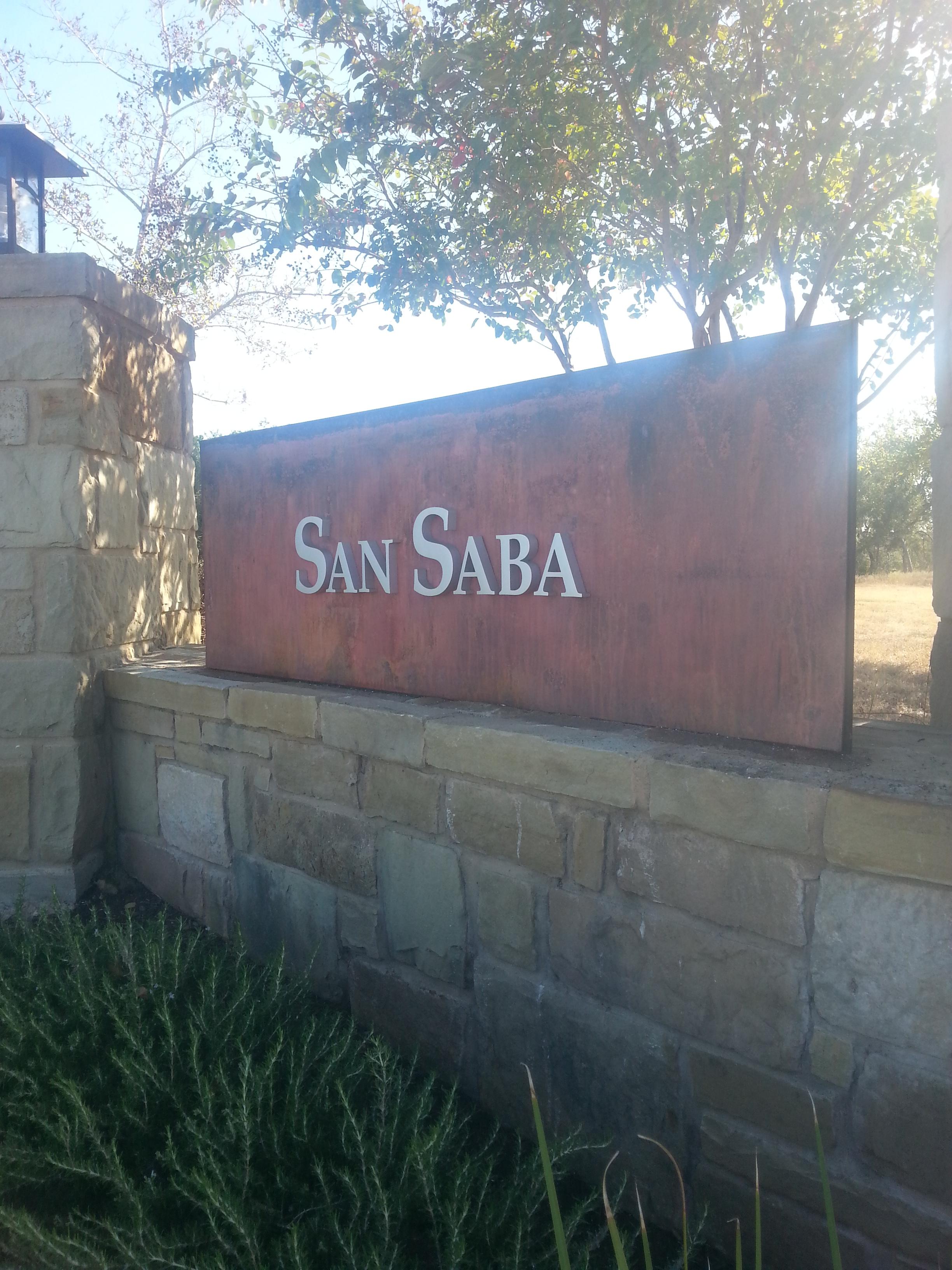 San Saba Community Sign