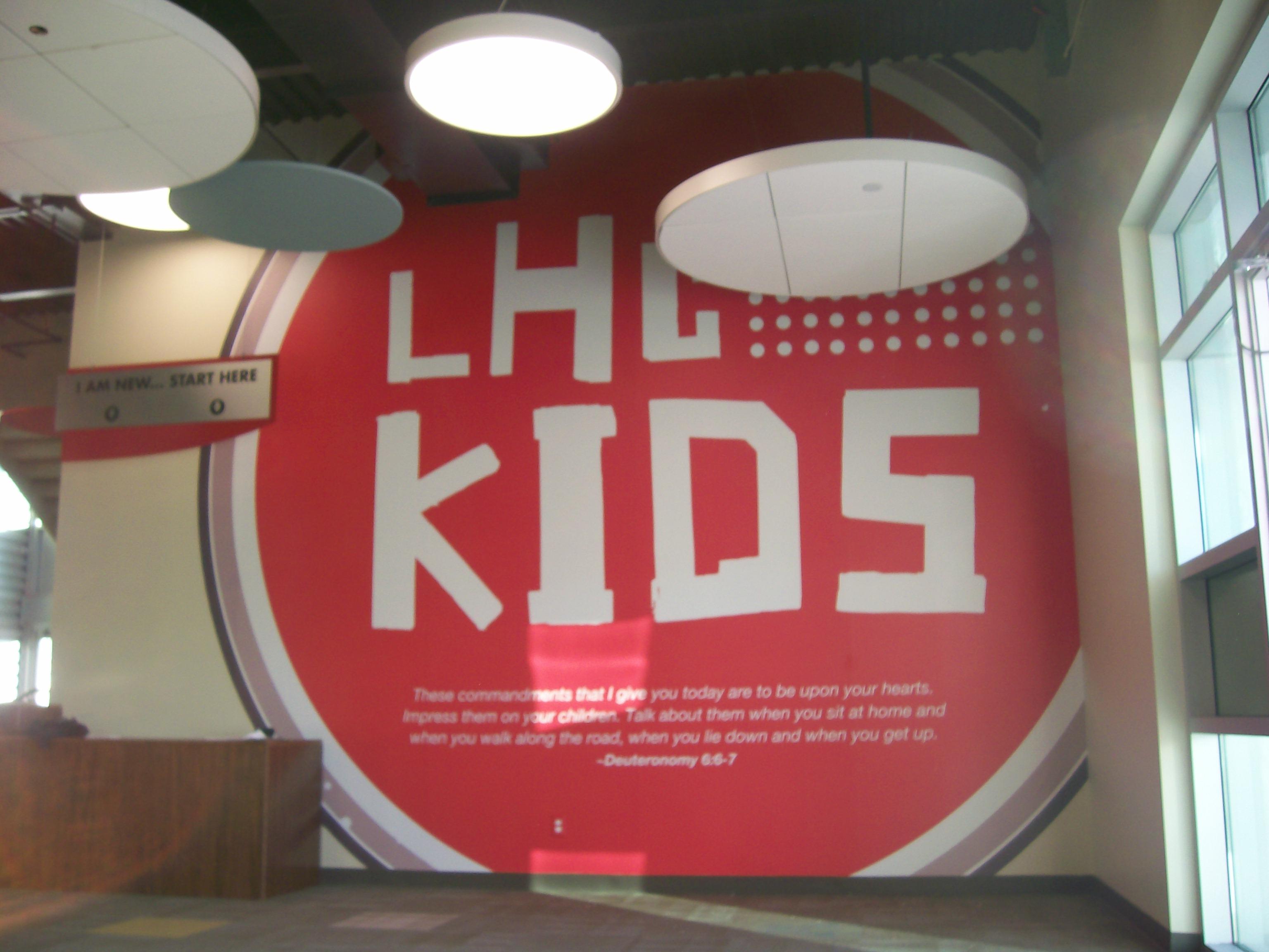 Lake Hills Church Kids Wall Decal