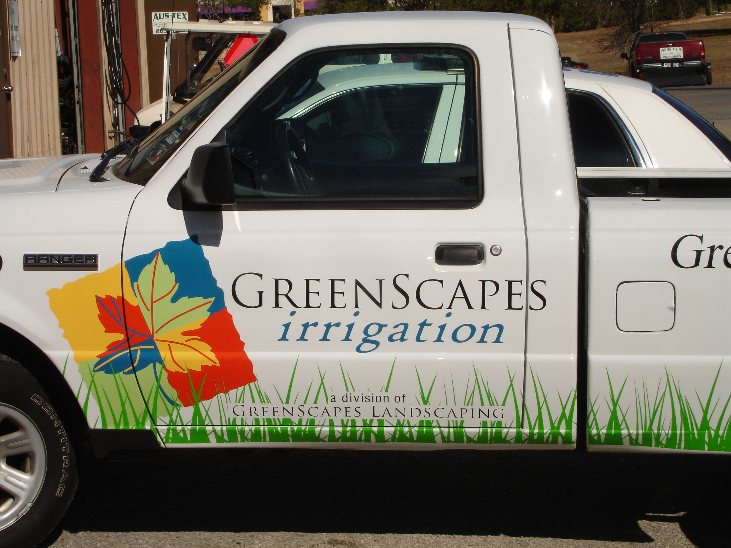 Greenscapes Irrigation Truck Graphic