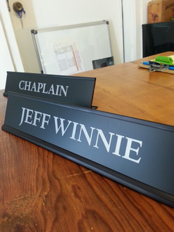 Engraved Desk Plaque