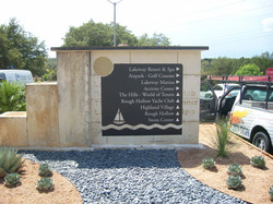 City of Lakeway Directional Monument