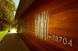 The Grove Brushed Metal Lettering