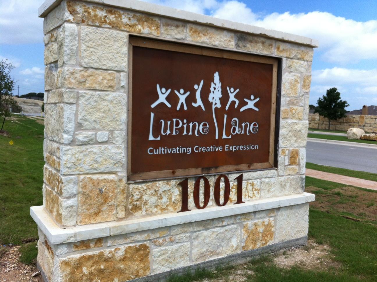 Lupine Lane Illuminated Monument