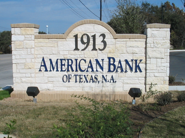 American Bank Lettering Monument