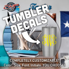 Order Tumbler Decals