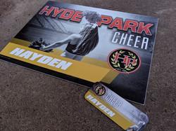 Hyde Park Cheer Athletic Yard Sign