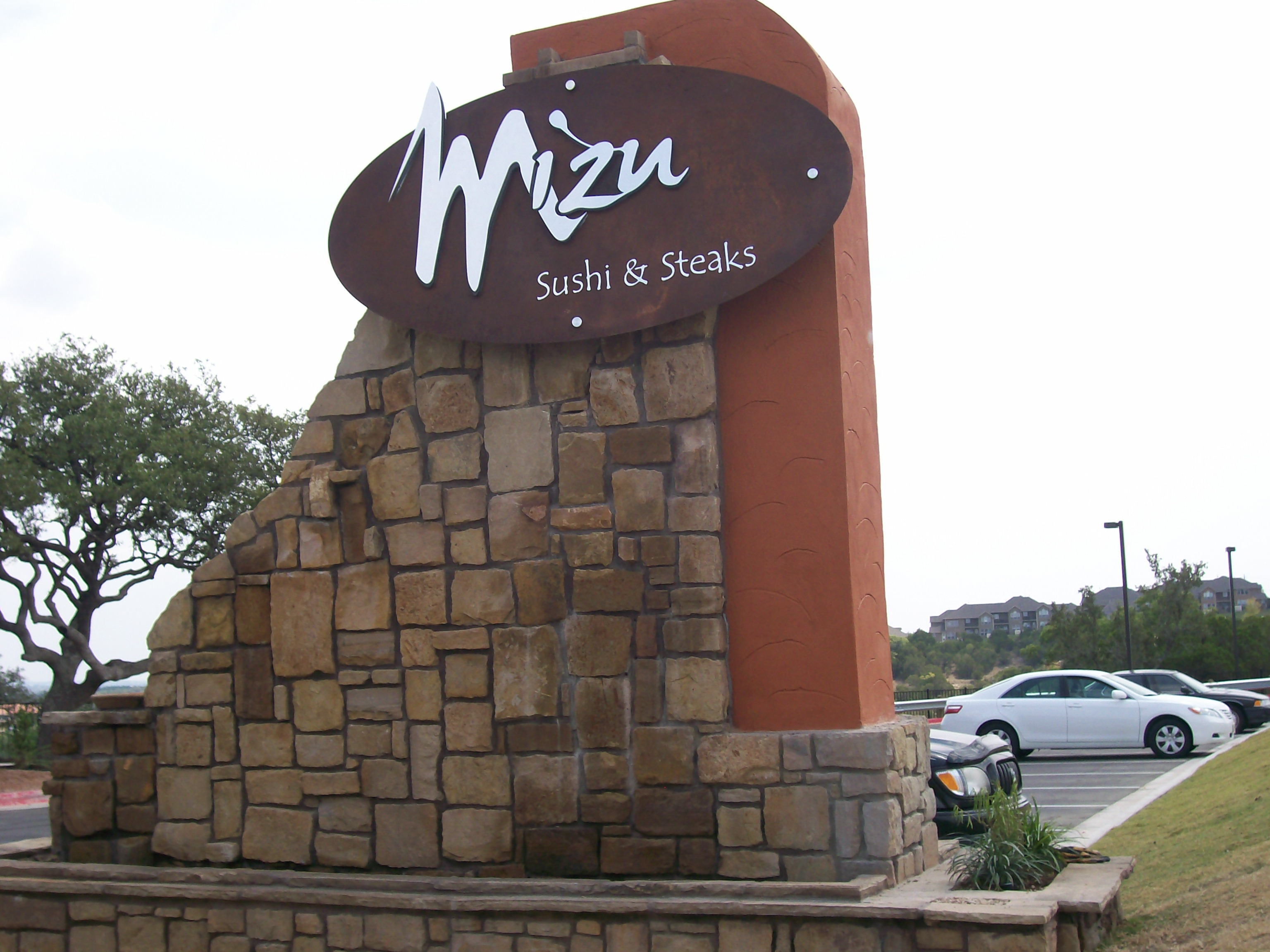 Mizu Rusted with Metal Letters