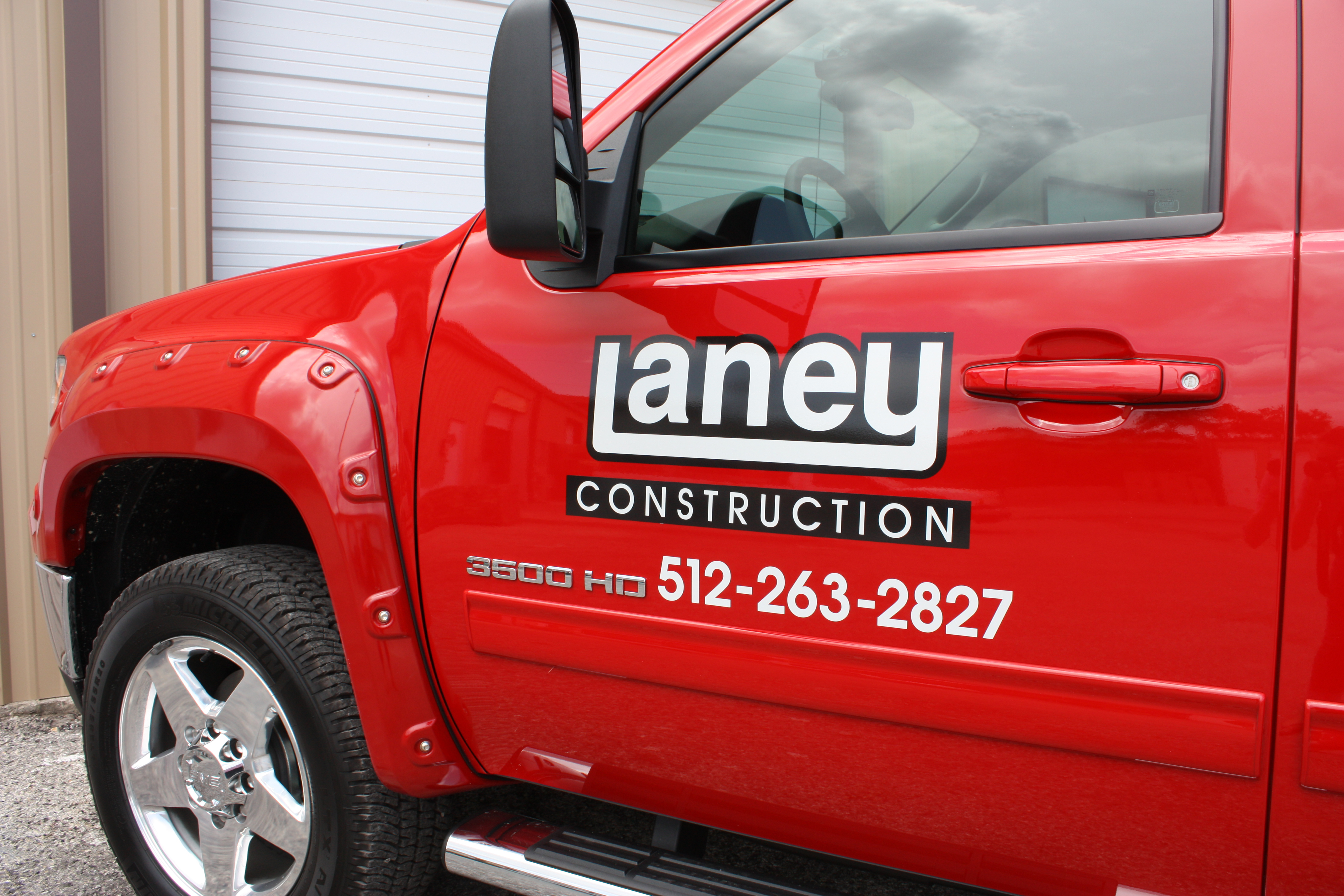 Laney Construction Truck Lettering