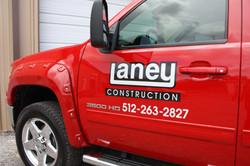 Laney Construction Truck Lettering