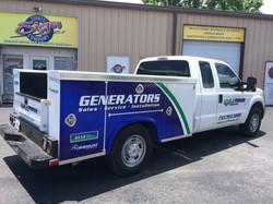 LJ Power Utility Truck Wrap