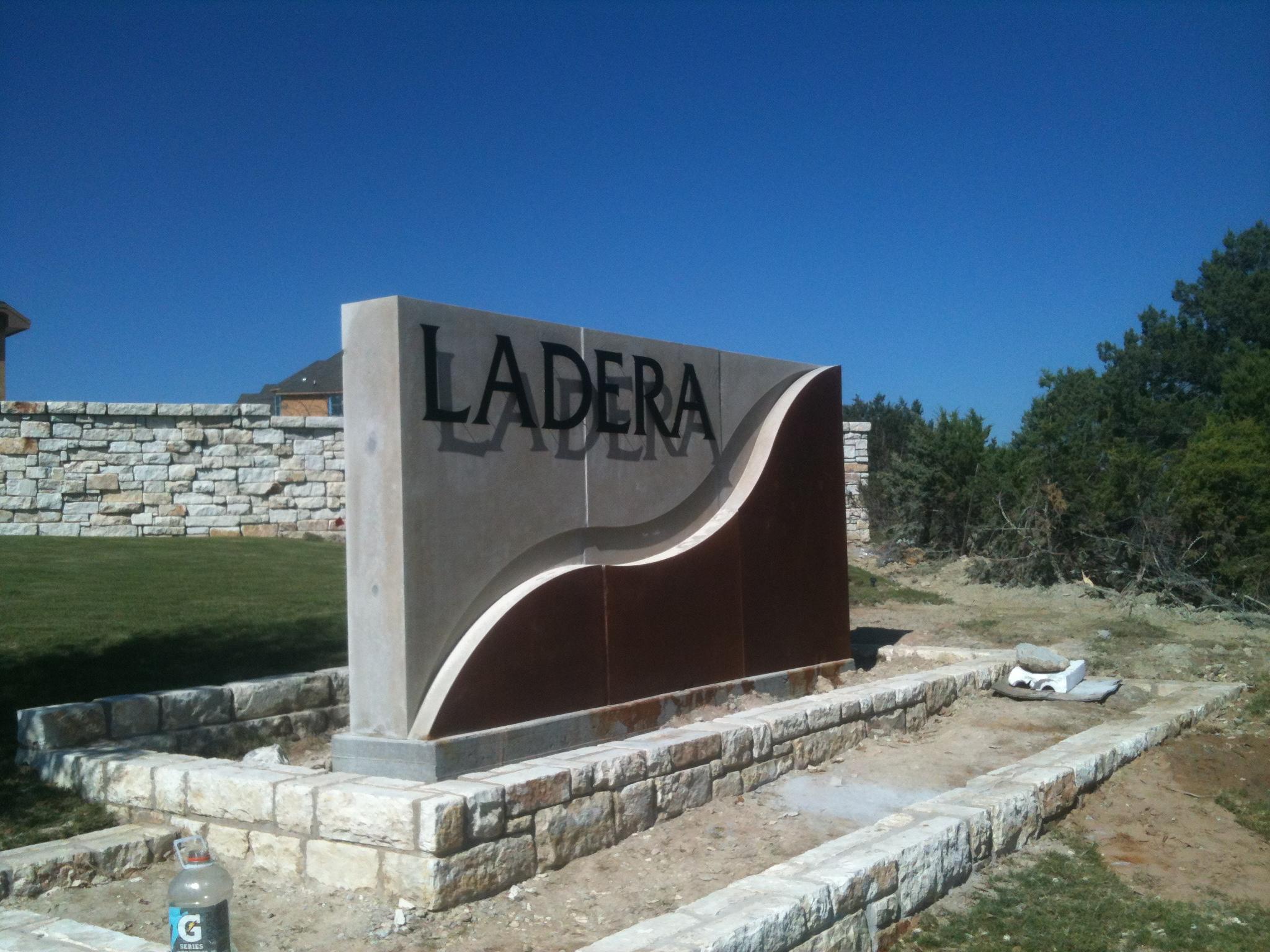 Ladera Raised Lettering Monument