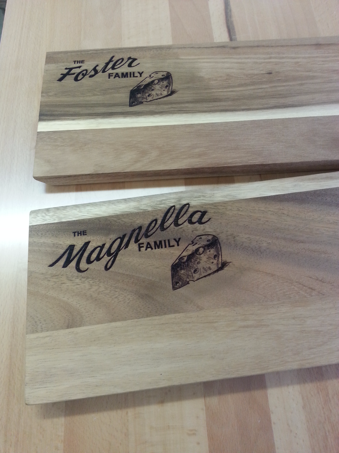 Wood Engraved Cheese Board