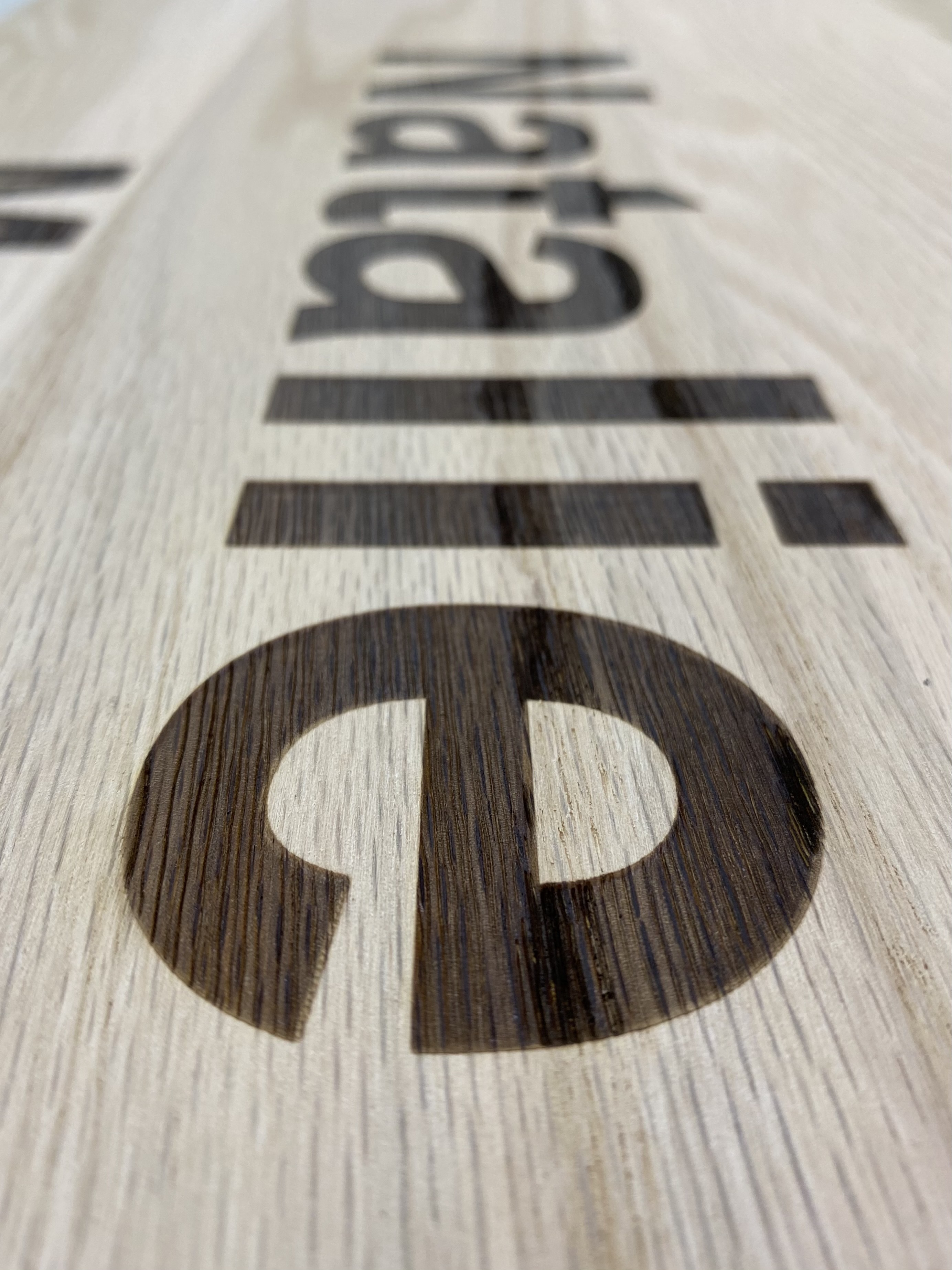 Red Oak Engraved with Personalized Names