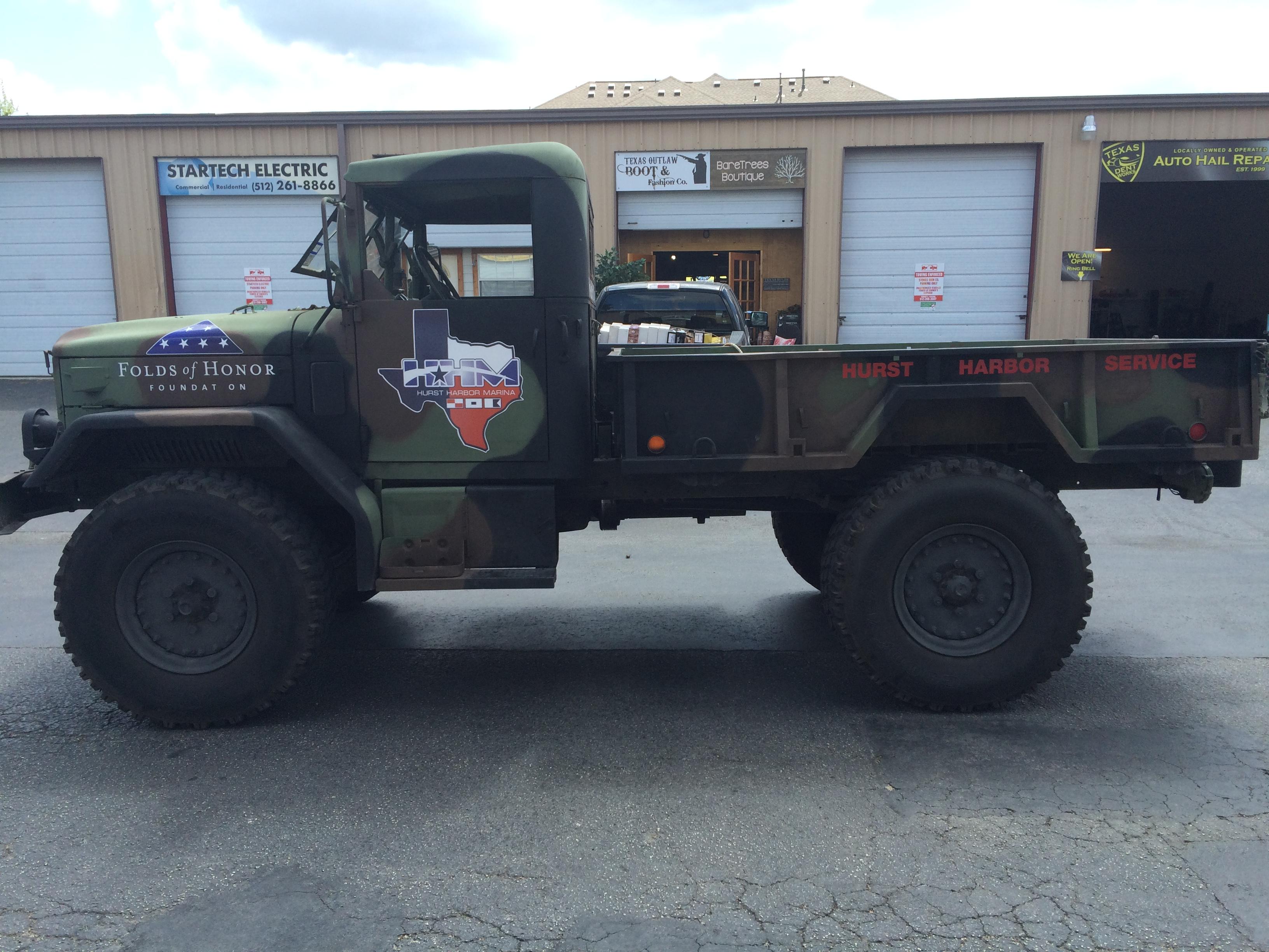 Hurst Murina Army Truck Installation