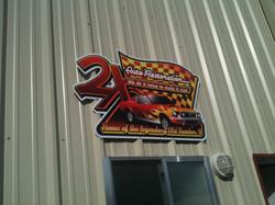 Printed Metal Sign on Building