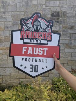 BCMS Football Athletic Yard Sign