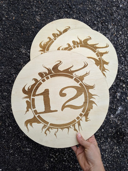 12 Fire Winery Wood Engraved Logo