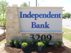 Independent Bank Acrylic Letter