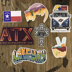 Stoked Texas Decals