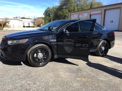 Reflective Police Car Graphics