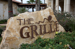 The Grille Rusted Metal Letters