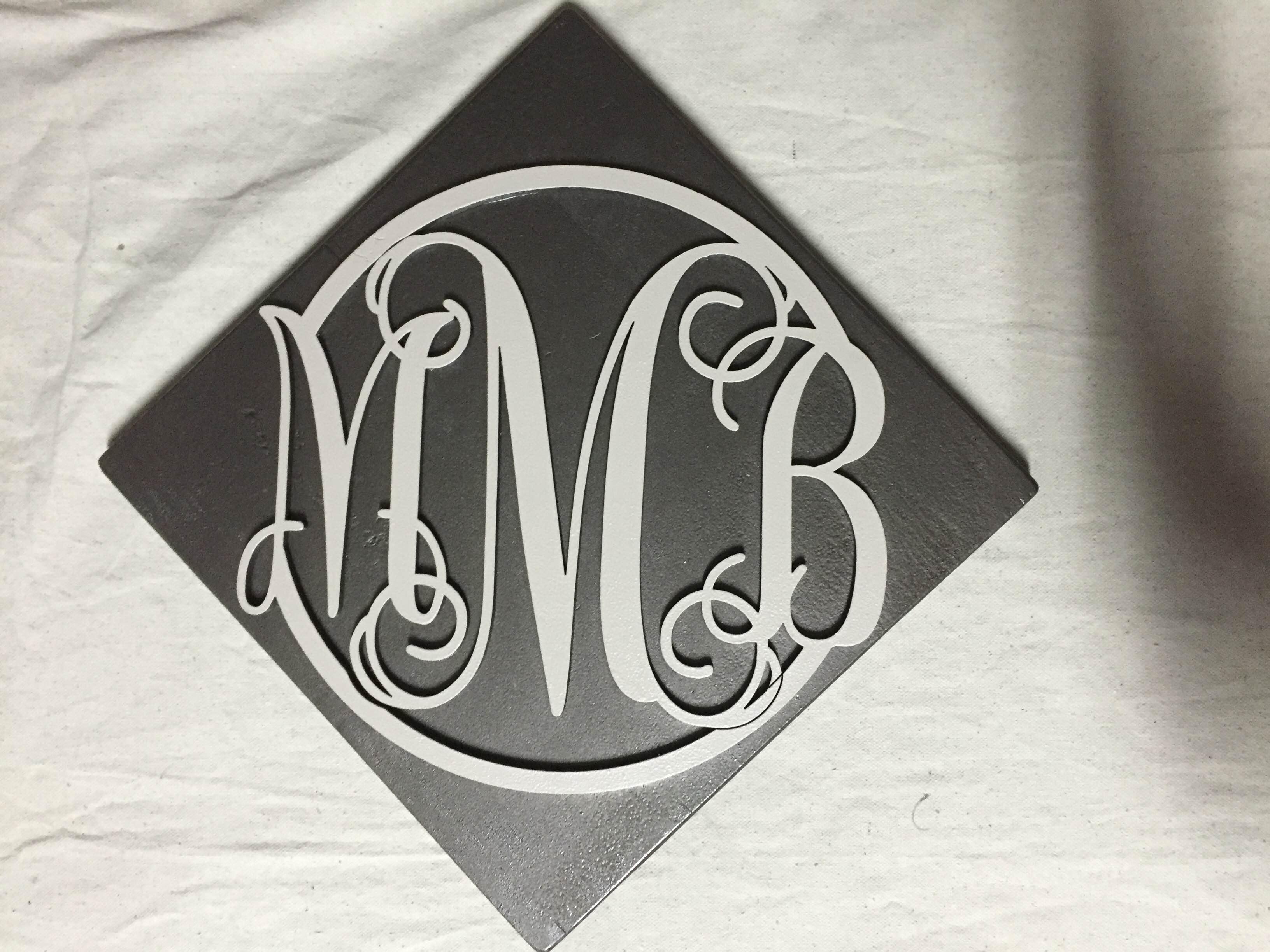 Engraved Monogram Sign