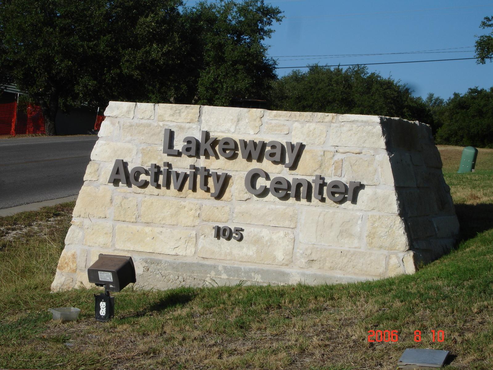 Lakeway Activity Center Metal Letter