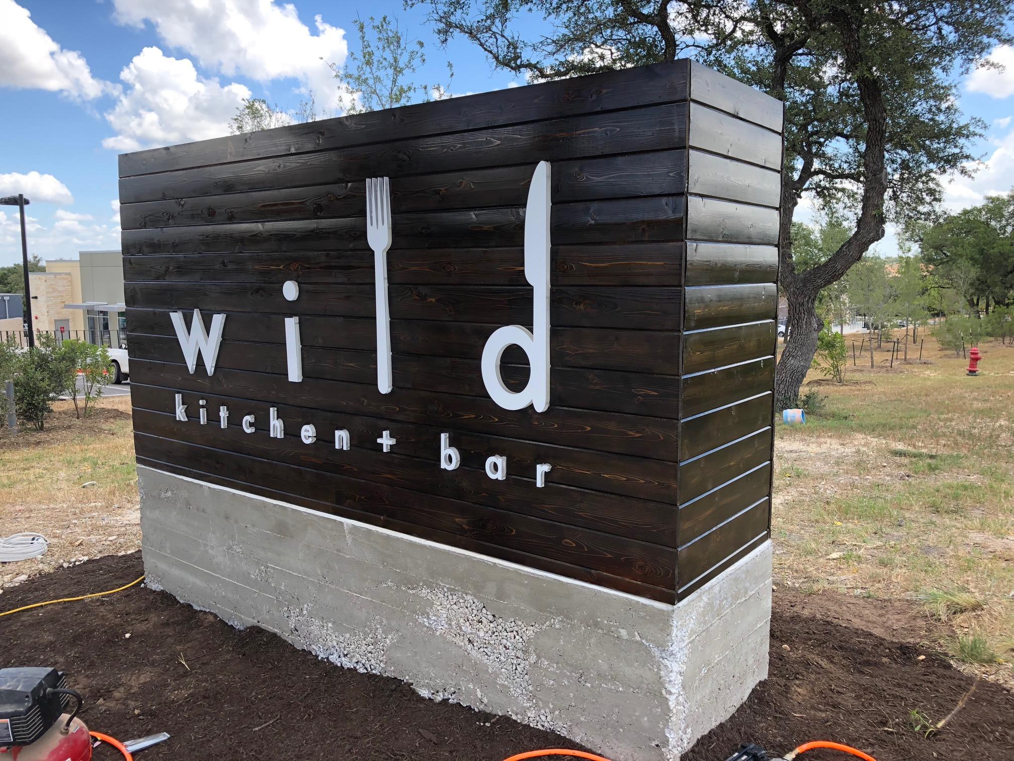 Wood and Acrylic Illuminated Sign