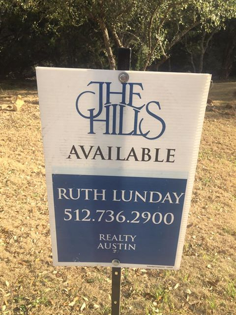 The Hills Lot Sign