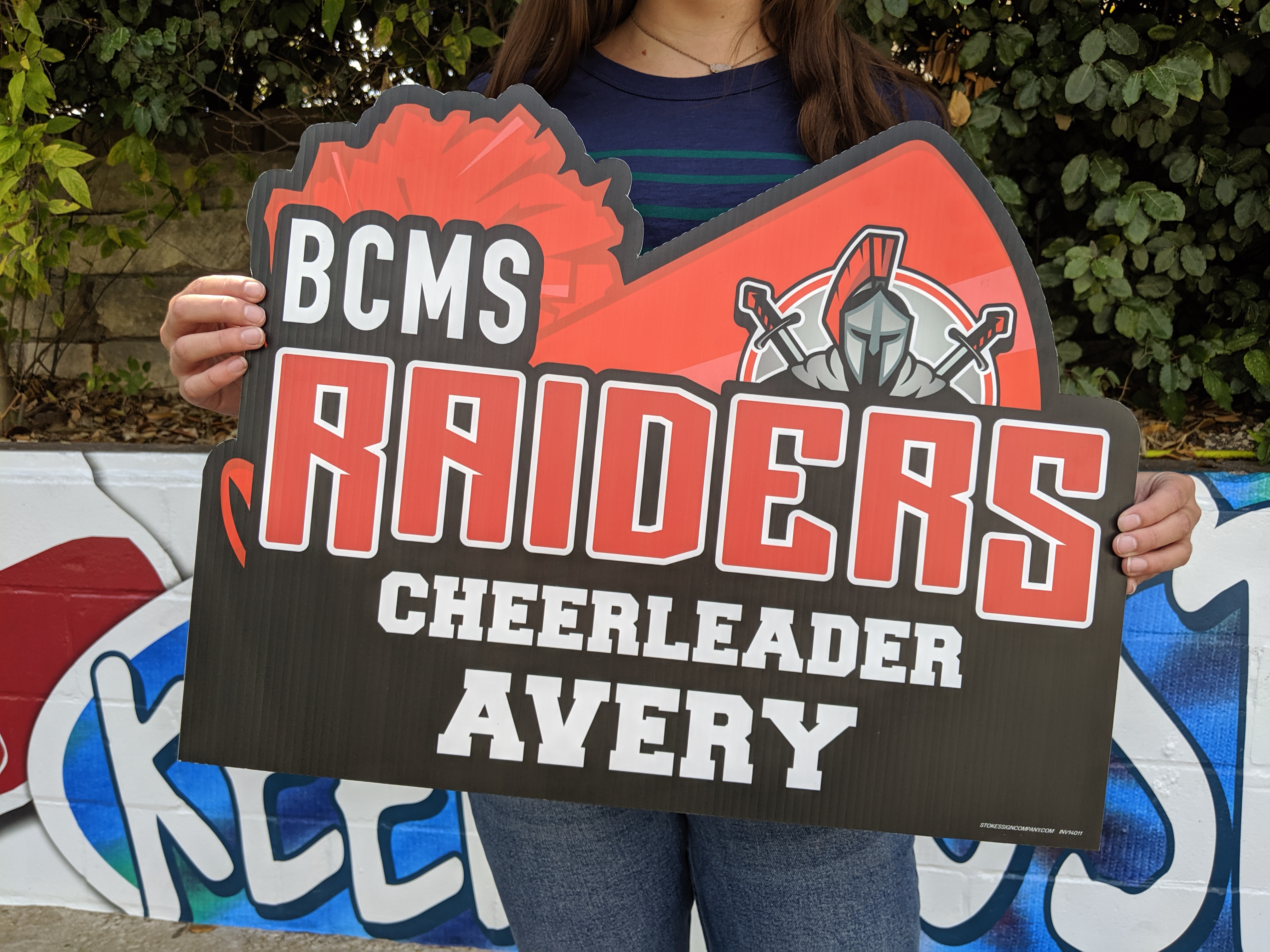 BCMS Cheer Athletic Yard Sign