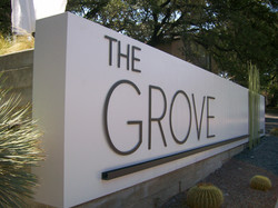 The Grove Monument Raised Letters