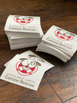 Highland Lakes Canine Rescue Decals