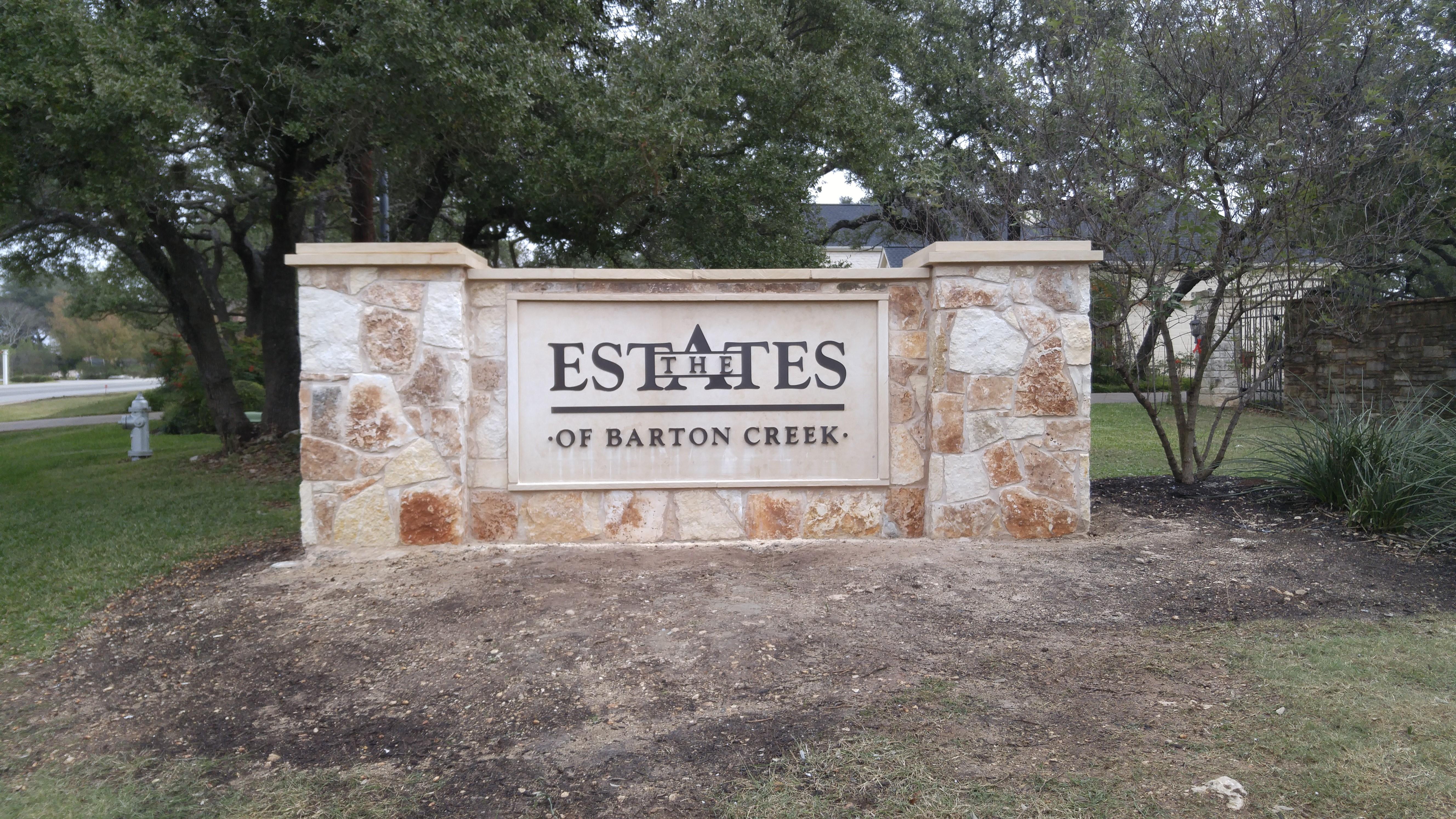 Estates of Barton Creek Monument