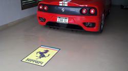 Ferrari garage floor graphic lk29148