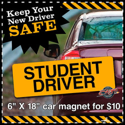 Student Driver Car Magnet