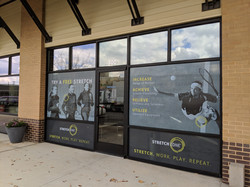 Storefront perforated window film