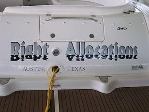 Boat Graphics -- Right Allocations