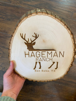 Family Ranch -- Engraved Wood Block
