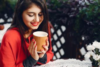 Kaffee und den Moment geniessen