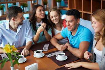 Kaffee geniesst man am Besten mit Freunden