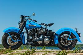 Shovel Harley in Softail frame