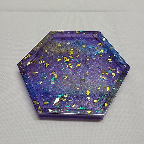 Hexagon Blend - Handcrafted Epoxy Coaster