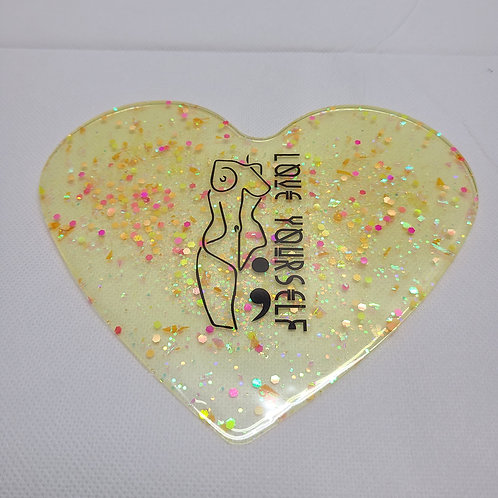 Love Yourself - Handcrafted Epoxy Coaster