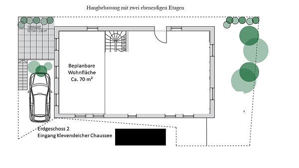 Erdgeschoss blank Eingang Klevendeicher