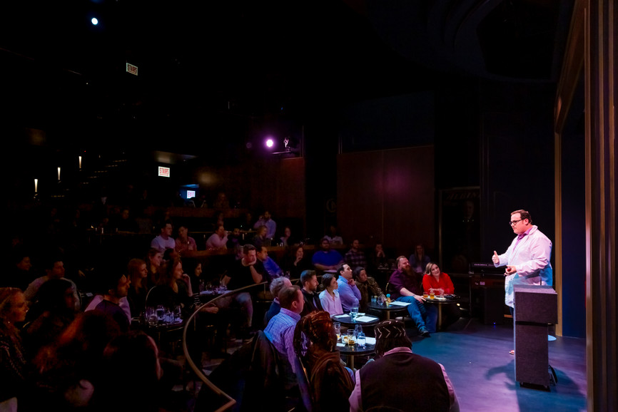 Magician Scott Green Performing on the Harry Blackstone Cabaret Stage at the Chicago Magic Lounge