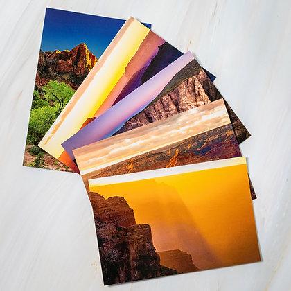 Southwest National Parks - Set of Five Postcards